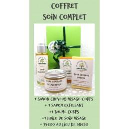 Coffret cadeau 2 savons + 1 baume + 1 huile
